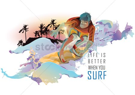 Surfboards : Surfing quote