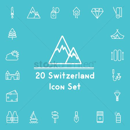 Mountains : Switzerland icons