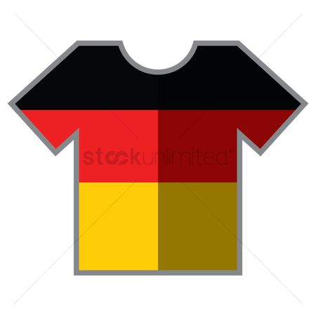 Tshirt design : T-shirt with germany flag design