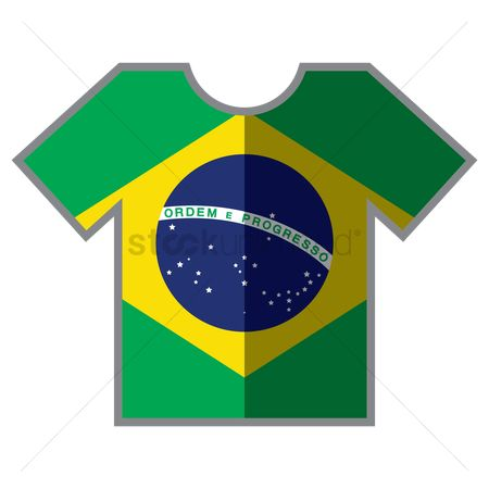 Tshirt design : T-shirts with brazil flag design