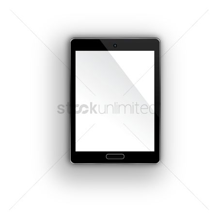 Screens : Tablet pc with blank screen