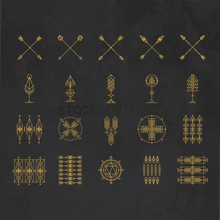 Icons : Tattoo arrows collection