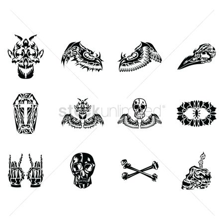 Devils : Tattoo design set