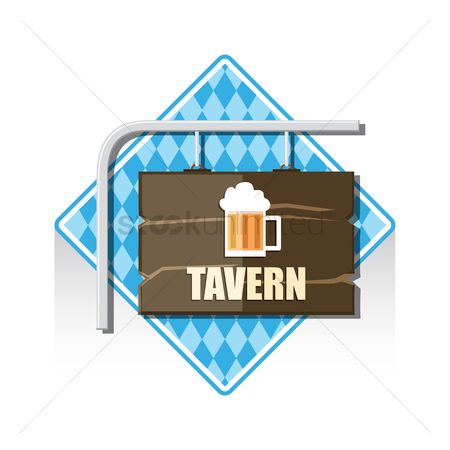 Wooden sign : Tavern sign