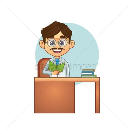 Teaching : Teacher at desk
