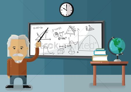 Whiteboard : Teacher in classroom