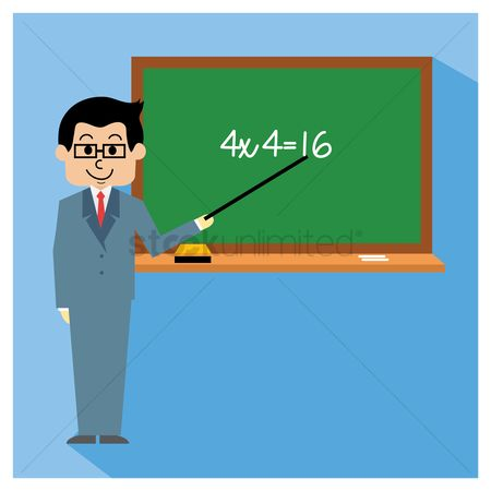 Teaching : Teacher teaching maths