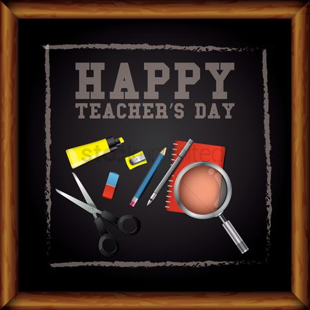 Highlighters : Teachers day greeting design