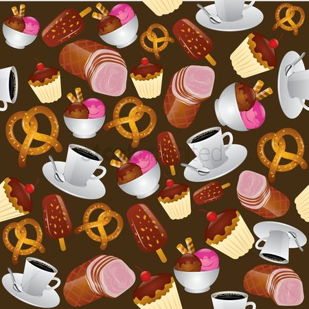 Cream : Teatime and dessert background