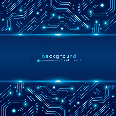 Graphic : Technical circuit board background