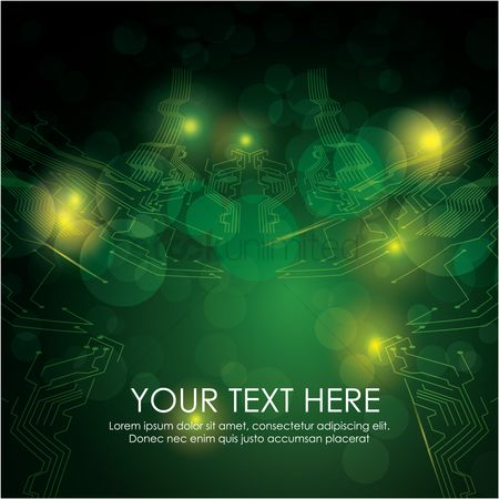 Copy spaces : Technical circuit board background