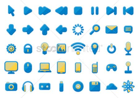 Power button : Technology icons