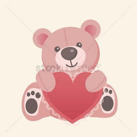 Romance : Teddy bear with heart