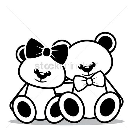 Teddy bear : Teddy bears sitting together
