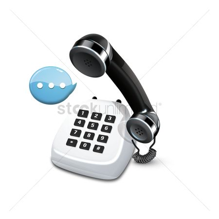 Call : Telephone with speech bubble