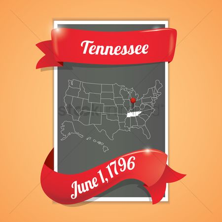 Tennessee : Tennessee state map poster