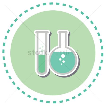 Chemicals : Test tube and round boiling flask