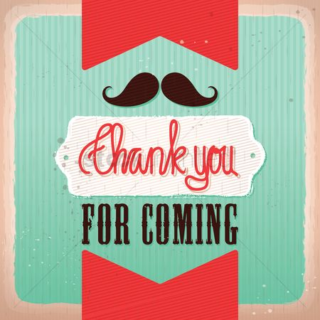 Old fashioned : Thank you for coming background