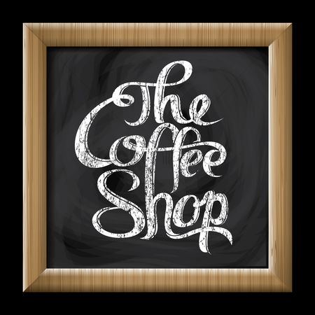 Wooden sign : The coffee shop sign