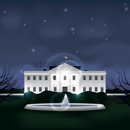 White house : The white house building