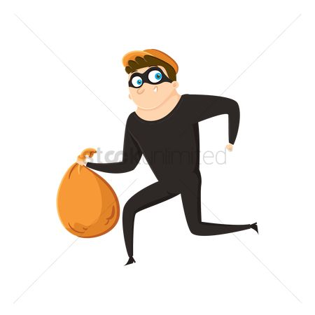 Sack : Thief running away with bag