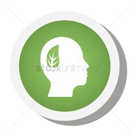 Mindset : Think green icon