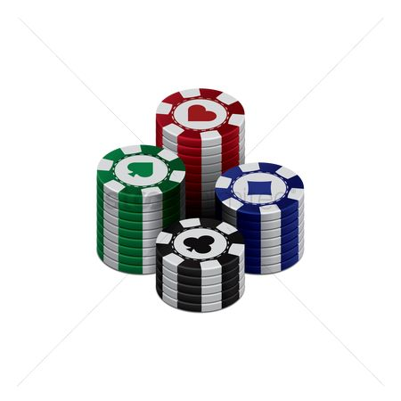 Poker chips : Three dimensional poker chips