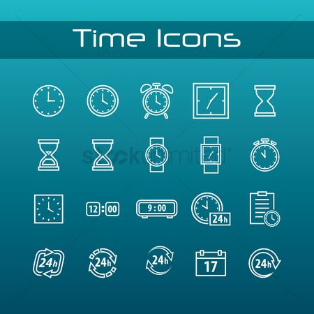Sand clock : Time icons pack