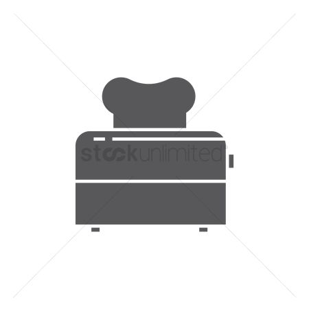 Appliance : Toaster with a slice of bread