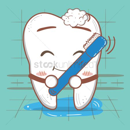 Clean : Tooth using toothbrush