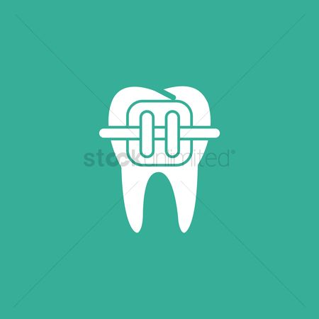 Dentist : Tooth with braces