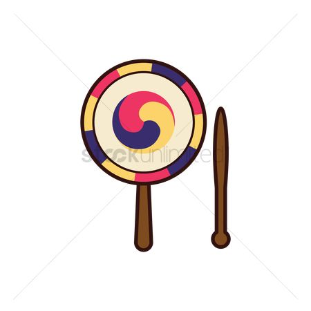 Percussions : Traditional korean hand drum