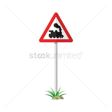 Beware : Train crossing sign