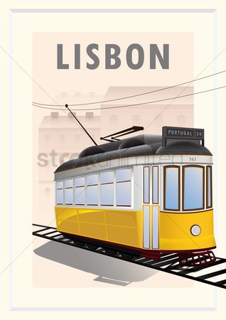 Electric cars : Tram poster
