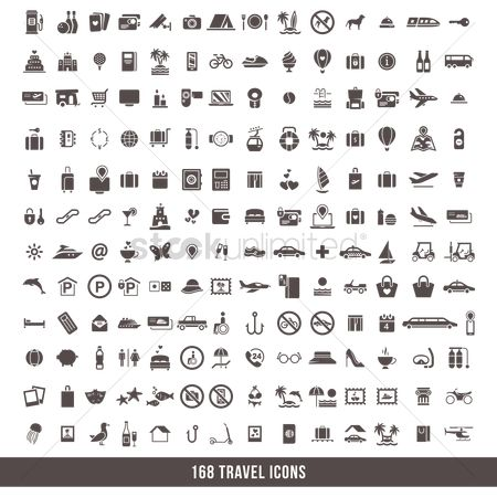 Aeroplanes : Travel icon set