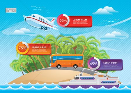 Transport : Travel infographic