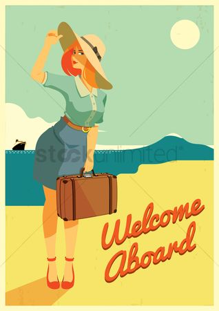 Lady : Travel poster design