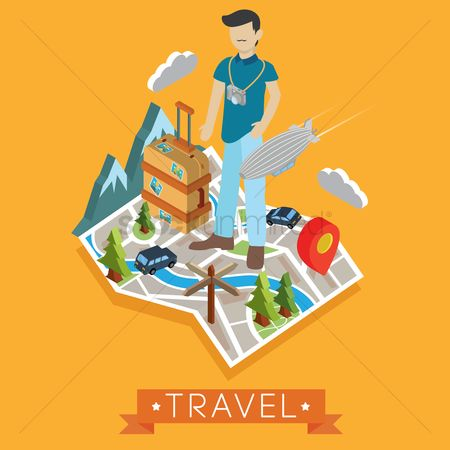 Map pin : Travel wallpaper