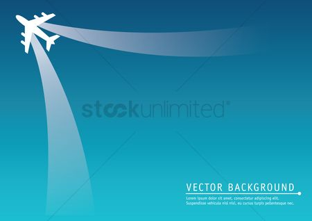 Airplane : Travel with aeroplane background
