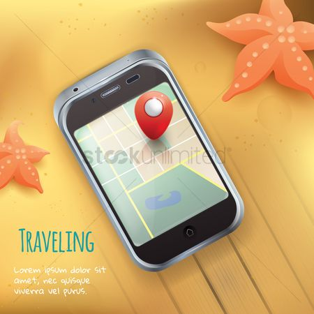 Starfishes : Traveling concept
