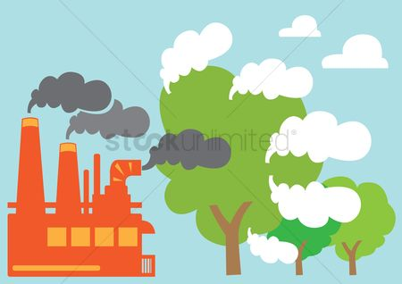 Pollutions : Trees converting carbon dioxide to oxygen