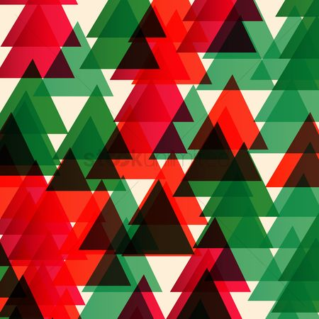 Greetings : Triangle patterned background