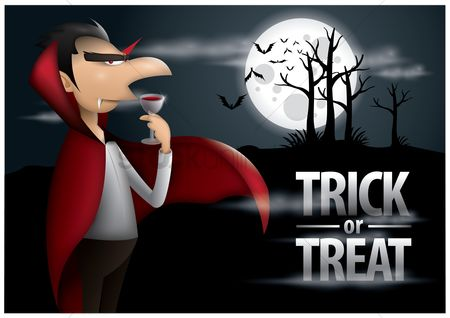 Moon : Trick or treat halloween poster