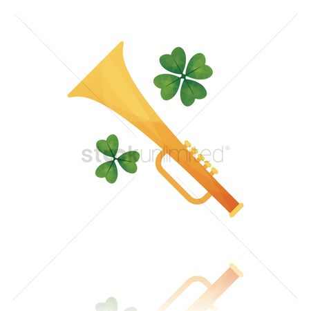 Trumpets : Trumpet with clover leaf