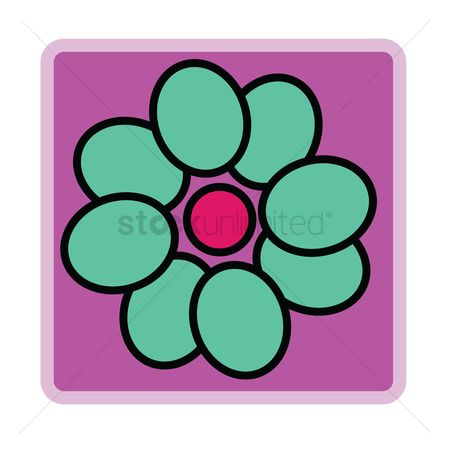 Background : Turquoise flower on purple background