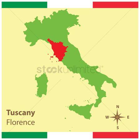 Free Tuscany Map Stock Vectors Stockunlimited