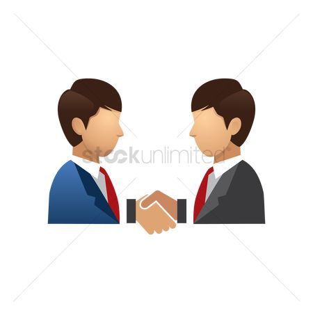 Smart : Two businessmen shaking hands