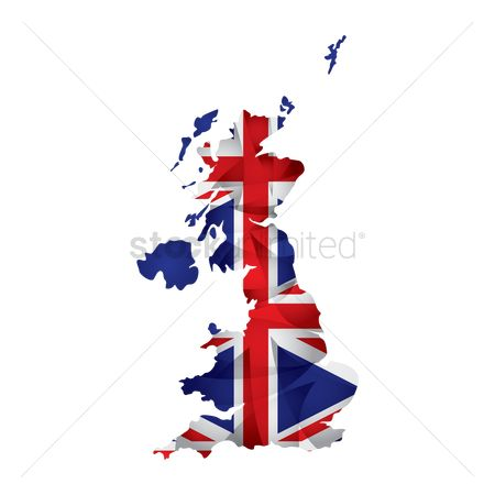 Cartography : Uk flag map