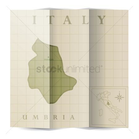 Highlights : Umbria paper map