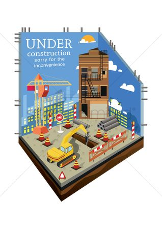 Constructions : Under construction sorry for the inconvenience background
